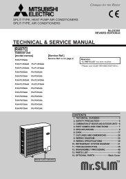 TECHNICAL & SERVICE MANUAL - Mitsubishi Electric