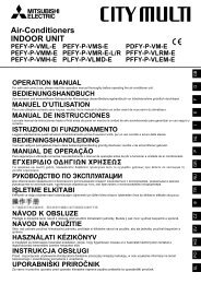 Air-Conditioners INDOOR UNIT PEFY-P-VML-E ... - Mitsubishi Electric