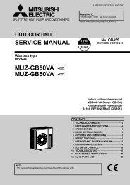 SERVICE MANUAL MUZ-GB50VA - MUZ ... - Mitsubishi Electric