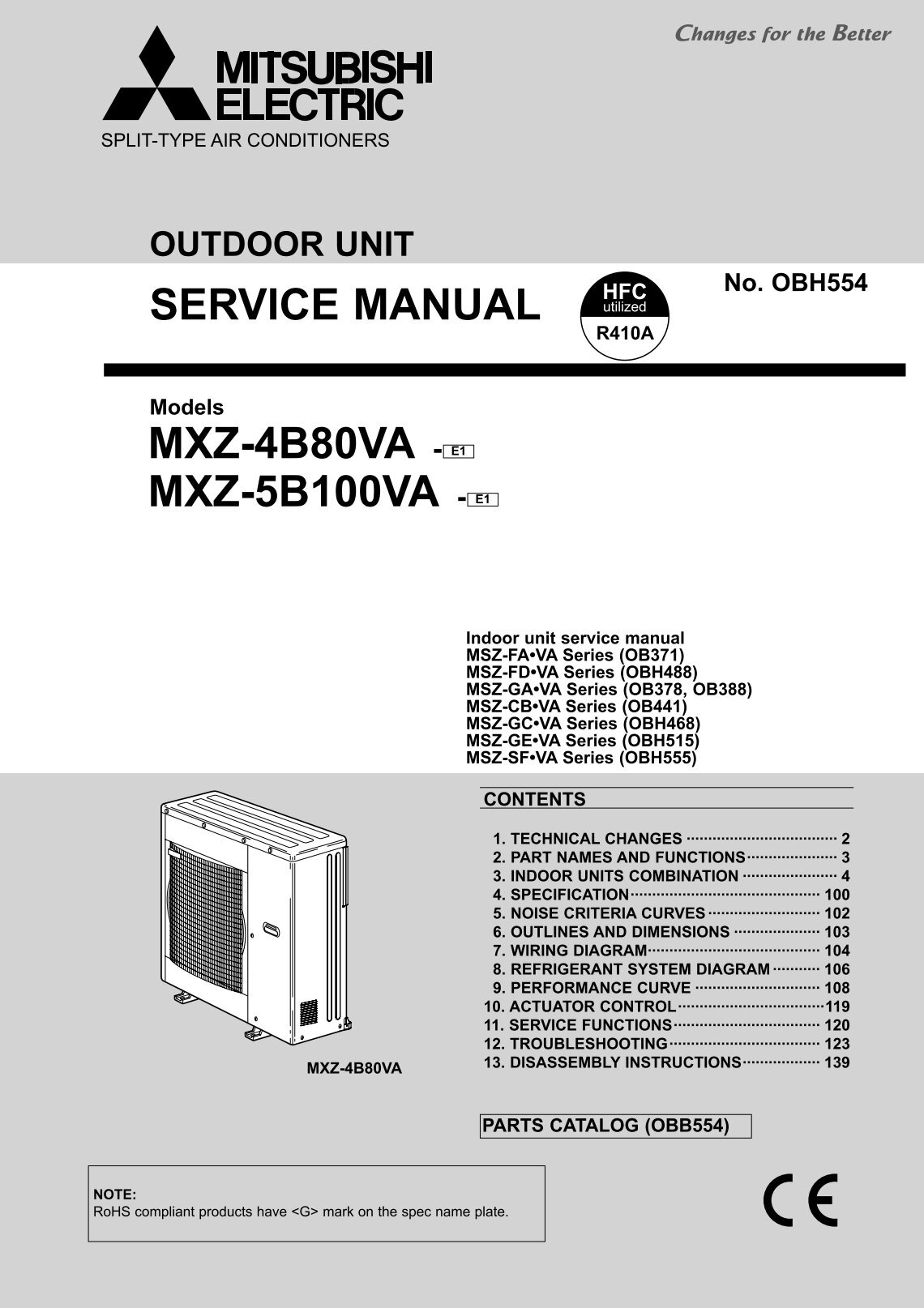 service manual mxz 4b80va e1 mxz 5b100va mitsubishi electric?quality\\\\\=85 mitsubishi lossnay wiring diagram on mitsubishi download wirning 220 bayou wiring diagram at aneh.co