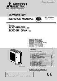 service manual mxz-4b80va - e1 mxz-5b100va ... - Mitsubishi Electric