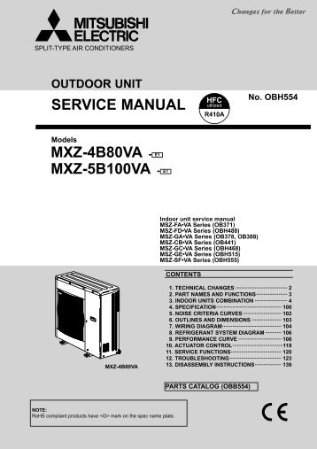 service manual mxz 2b30va e1 mxz 4b71va mitsubishi electric rh yumpu com mitsubishi electric service manual mitsubishi electric mr. slim owners manual