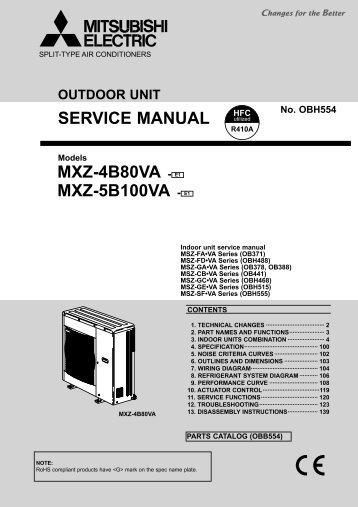 service manual mxz 2b30va e1 mxz 4b71va mitsubishi electric rh yumpu com mitsubishi electric msc- 07rv service manual mitsubishi electric aircon service manual