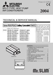 Series PEHD/PEAD R407C - Mitsubishi Electric