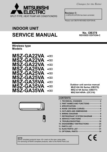 msz-ga25va - Mitsubishi Electric