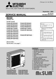 SERVICE MANUAL - Mitsubishi Electric
