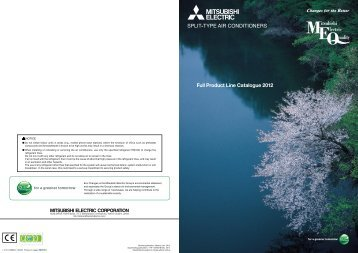 Full Product Line Catalogue 2012 F - Mitsubishi Electric
