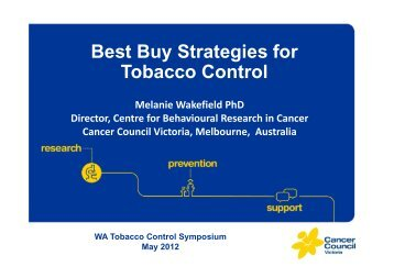 Tobacco Control - Cancer Council Western Australia