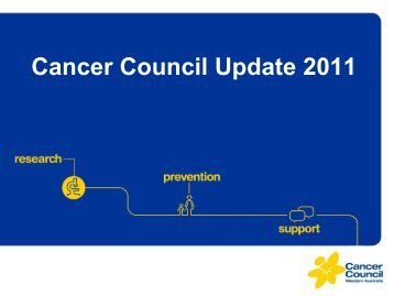 Cancer Council Update 2011 - Cancer Council Western Australia