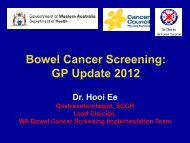 WA Bowel Cancer Screening Implementation Team
