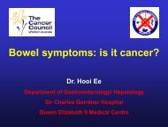 INFLAMMATORY BOWEL DISEASE - Cancer Council Western ...