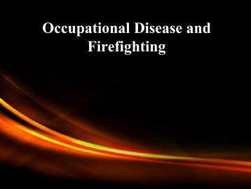 Occupational Disease and Firefighting
