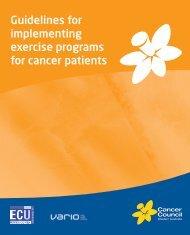 Guidelines for implementing exercise programs for cancer patients
