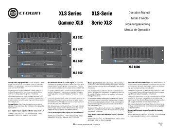 XLS Series Gamme XLS XLS-Serie Serie XLS - STEP