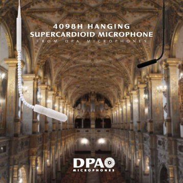 4098h hanging supercardioid microphone - DPA Microphones