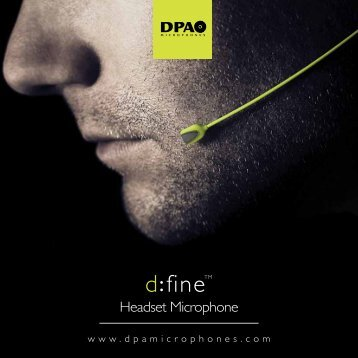 Headset Microphone - DPA Microphones