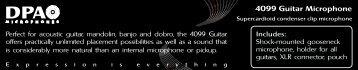 4099 Guitar Microphone - DPA Microphones