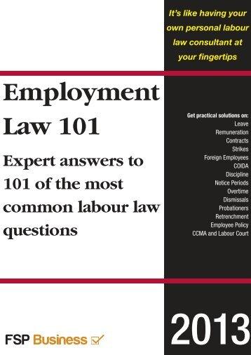 Employment Law 101 0113_Layout 1 - Fleet Street Publications