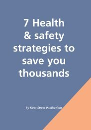 7 Health & Safety Strategies to Save you Thousands - Fleet Street ...