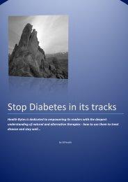 Stop Diabetes in its tracks - Fleet Street Publications