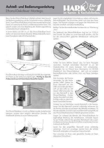 ethanol marmorfassade mit edf 690 aufbau und hark. Black Bedroom Furniture Sets. Home Design Ideas