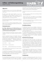 Herd Country Aufbau- und Bedienungsanleitung - Hark