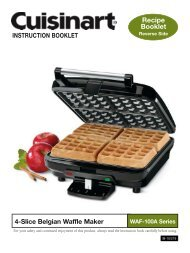 WAF-100A - Belgian Waffle Maker - Instruction Booklet - Cuisinart
