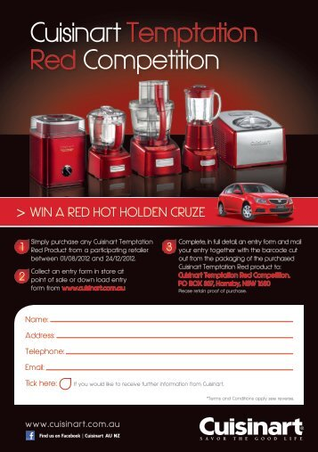 Cuisinart Temptation Red Competition