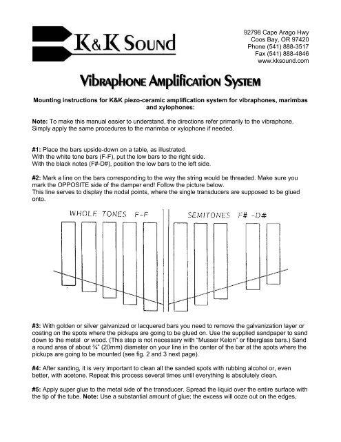 Vibraphone Amplification System - K&K Sound