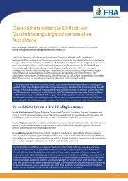 Diesen Schutz bietet das Eu-Recht vor Diskriminierung ... - Europa