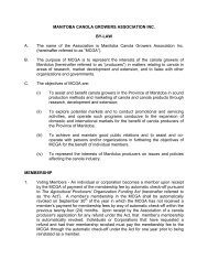 By Law Final January 18, 2005 - Manitoba Canola Growers ...