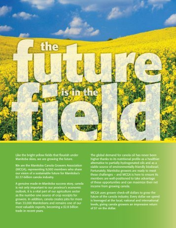 is in the - Manitoba Canola Growers Association