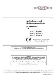 Aufstellungs- und Bedienungsanleitung - 123-kaminofen.de