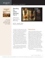 Blending for Italian Espresso Part 2 - Josuma Coffee
