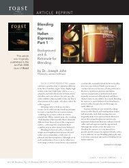 Blending for Italian Espresso Part 1 - Espressotec