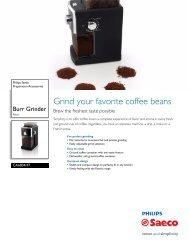 Philips Saeco Focus Brochure - Espressotec
