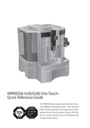 IMPRESSA XS95/XS90 One Touch – Quick Reference Guide - Jura