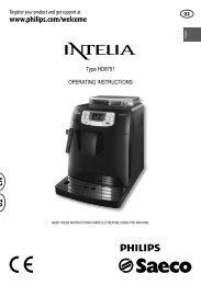 Saeco Intelia Superautomatic Espresso Machine Set-Up Guide for ...