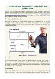 Just how Specialist Web Designers Could Enhance Your Visibility Online