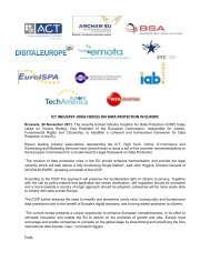 ICT industry joins forces on data protection - DigitalEurope