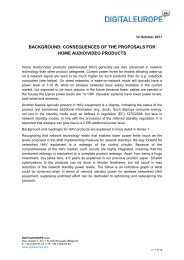 background: consequences of the proposals for ... - DigitalEurope