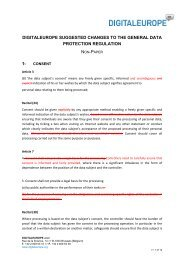 digitaleurope suggested changes to the general data protection ...