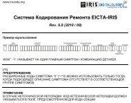 Система Кодирования Ремонта EICTA-IRIS Rev. 6.8 - DigitalEurope