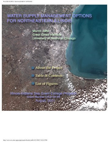 Development of Water Markets for Northeastern Illinois