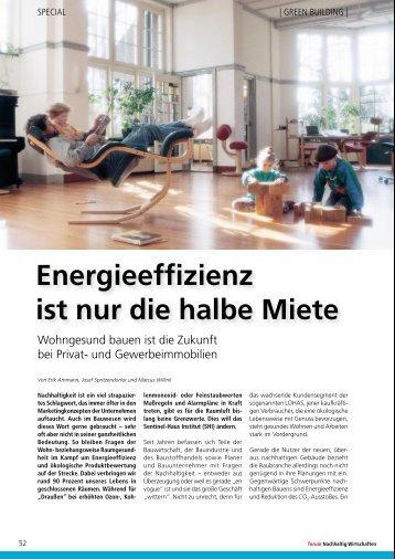 Energieeffizienz ist nur die halbe Miete - Sentinel-Haus Stiftung eV