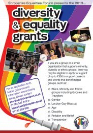 Diversity & Equality grants