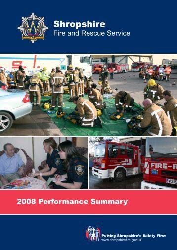 2008 Performance Summary - Shropshire Fire and Rescue Service