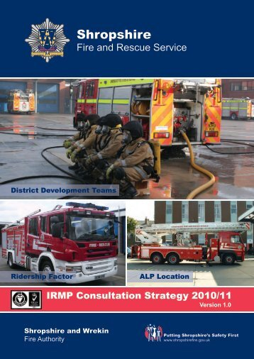 Consultation Strategy - Shropshire Fire and Rescue Service