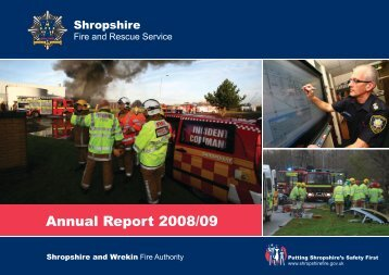 (FRA) welcomes comments - Shropshire Fire and Rescue Service