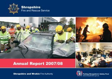 Putting Shropshire's Safety First - Shropshire Fire and Rescue Service